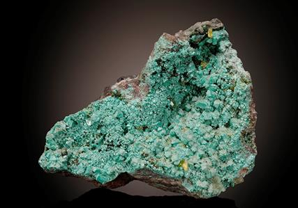 Zincolivenite with Adamite, Willemite and Smithsonite