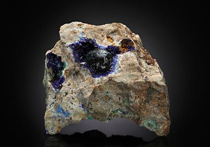 Clinoclase with Azurite