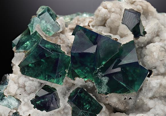 Fluorite with Galena and Aragonite