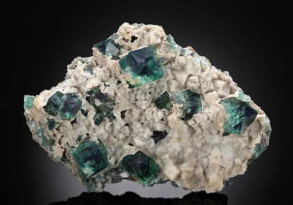 Fluorite with Aragonite