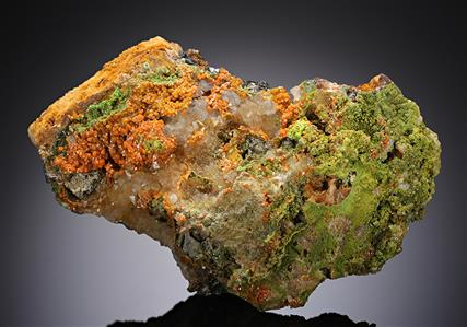Wulfenite with Pyromorphite