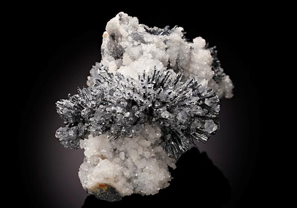 Stibnite with Calcite and Dolomite