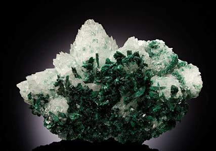 Malachite with Calcite