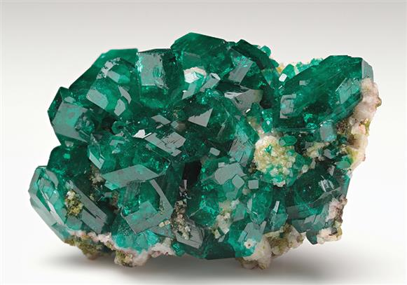 Dioptase with Cerussite and Duftite