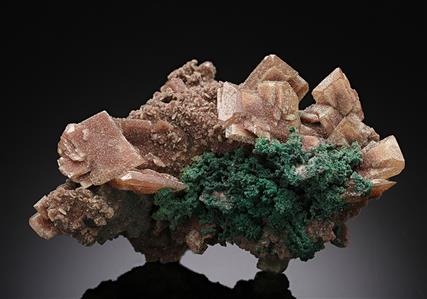 Wulfenite with Malachite