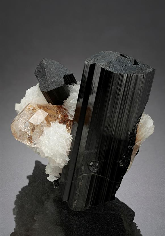 Schorl with Cleavelandite and Topaz