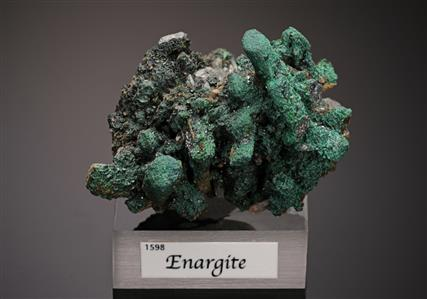 Enargite with Chalcocite and Malachite