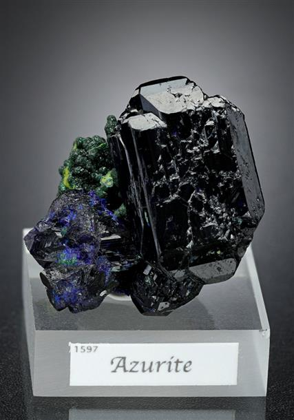 Azurite with Bayldonite