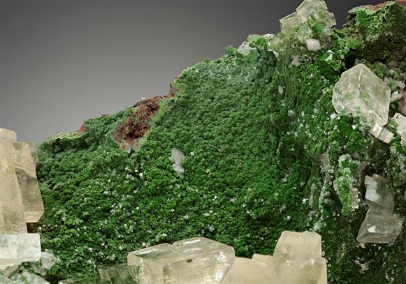 Calcite on Conichalcite