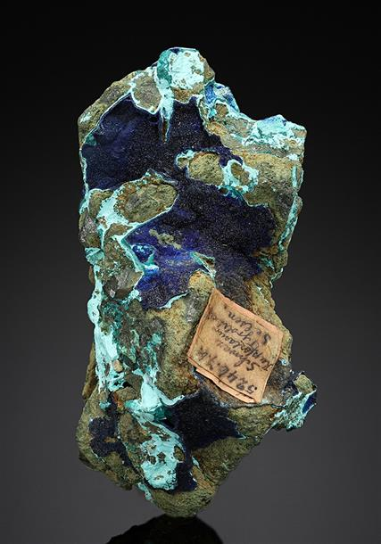 Azurite with Tyrolite
