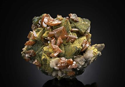 Wulfenite on Tennantite
