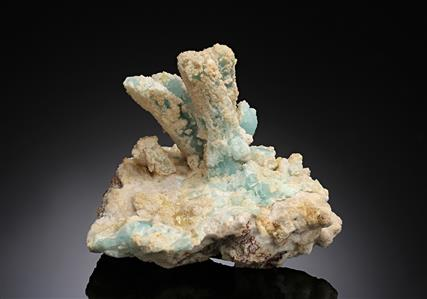 Willemite pseudomorph after Azurite