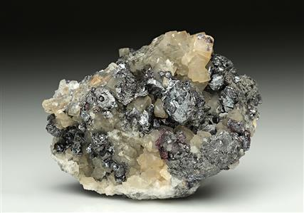 Pyrargyrite with Calcite