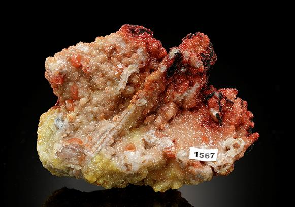 Cuprite included in Dolomite and Cerussite
