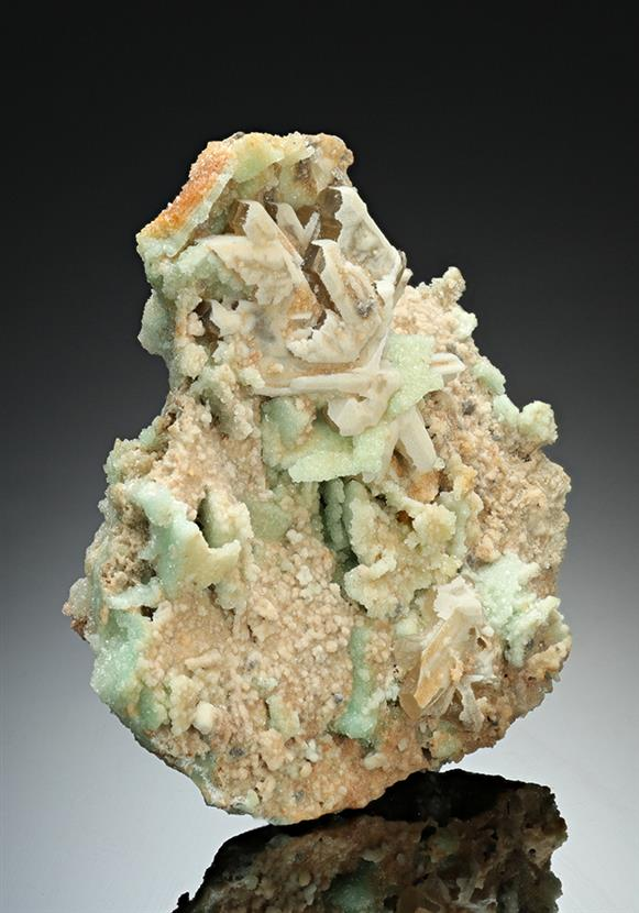 Willemite pseudomorph after Cerussite