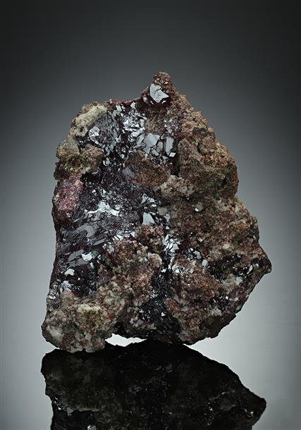 Cuprite with Dolomite and Mimetite