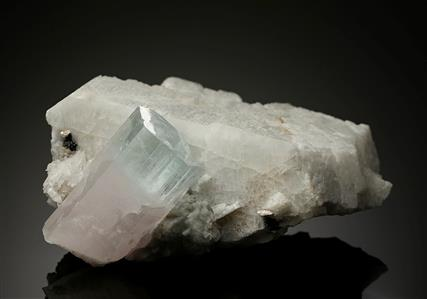 Beryl Var. Aquamarine with Morganite and Microcline