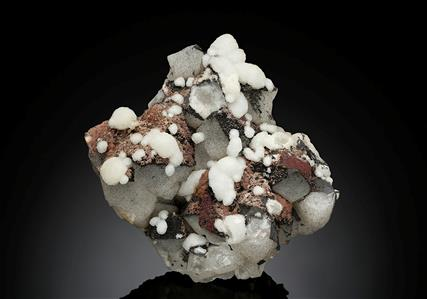 Aragonite on Quartz