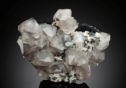 Quartz with Dolomite on Hematite