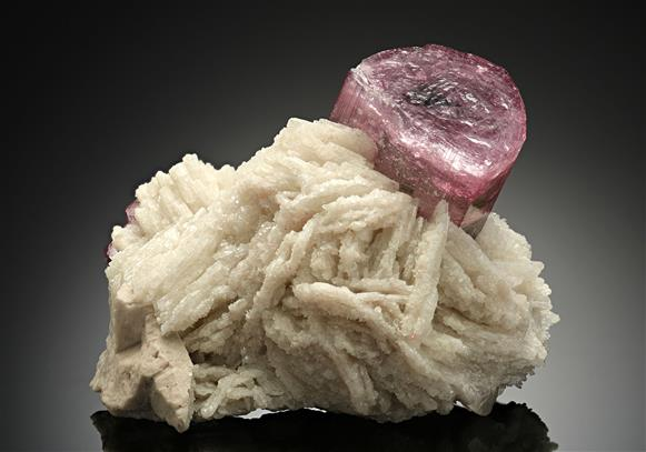 Tourmaline with Albite Var. Cleavelandite