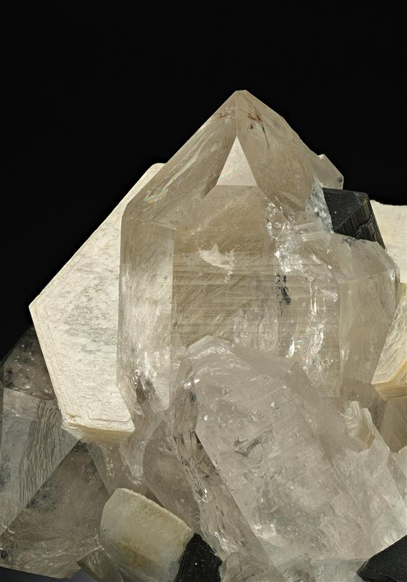 Quartz with Muscovite, Albite and Schorl