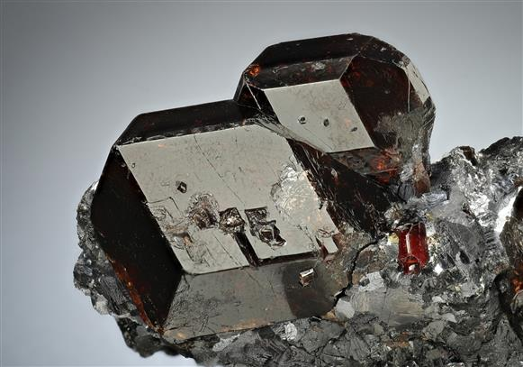 Spessartine Garnet with Galena