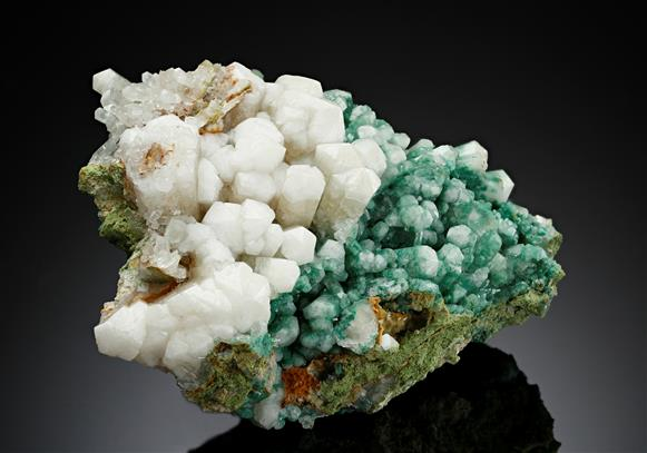 Aragonite Var. Tarnowitzite with Malachite