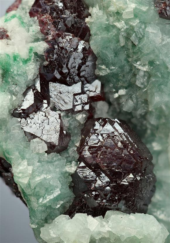 Cuprite with Dolomite
