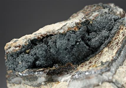 Acanthite with Argyrodite and Pyrargyrite
