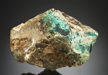 Ferroselite with Umangite and Malachite
