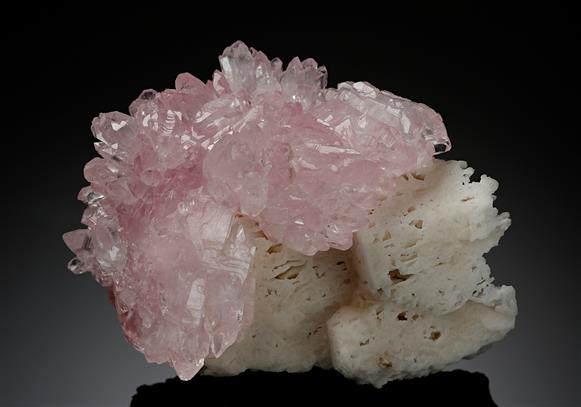 Rose Quartz on Feldspar