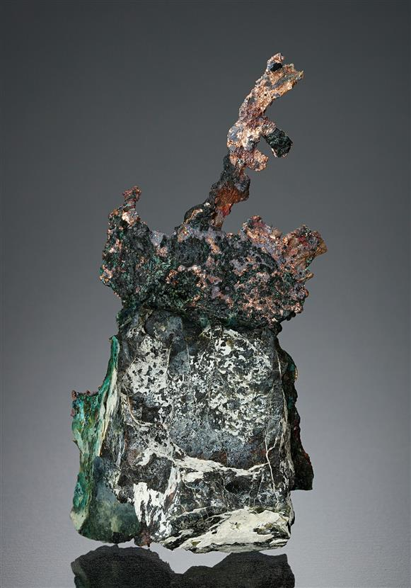 Native Copper with Chrysocolla