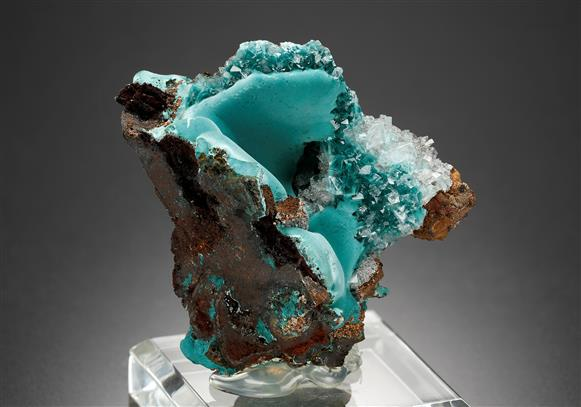 Rosasite with Calcite