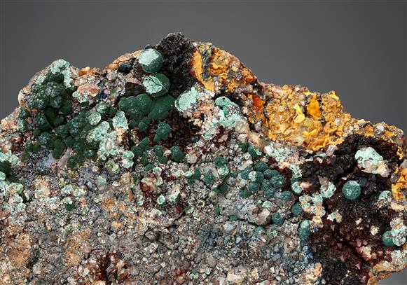 Dufrénite with Chalcosiderite