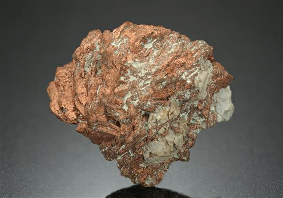 "Native Copper ""Rose"" pseudomorph after Azurite"