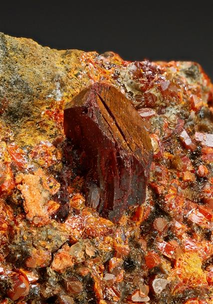 Lorandite with Realgar