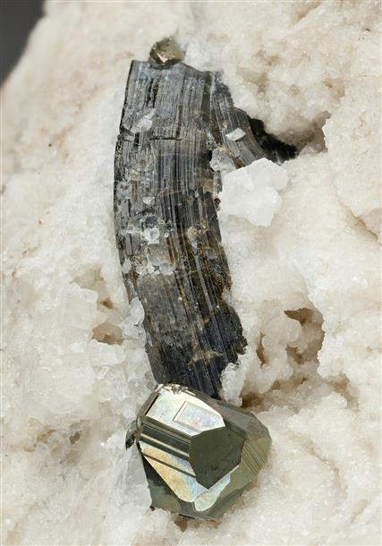 Pyrite with Tourmaline