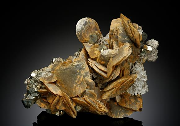 Siderite with Pyrite