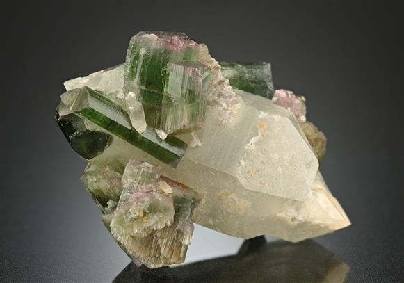 Elbaite Tourmaline with Quartz