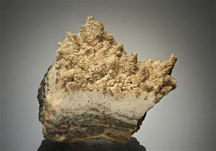 "Cassiterite Var. ""Wood Tin"" with Quartz and Dolomite"