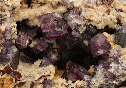 Fluorite with Bismuthinite inclusions