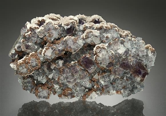 Fluorite with Siderite and Calcite