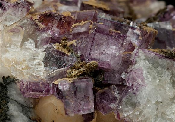 Fluorite with Siderite and Quartz
