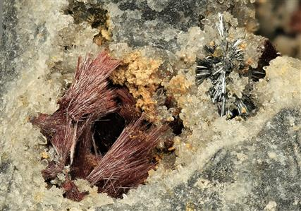 Kermesite with Stibnite