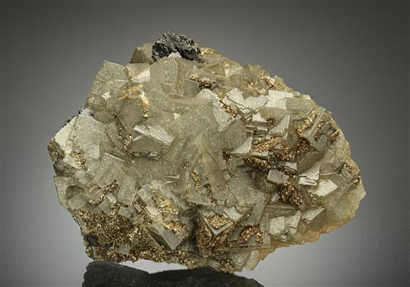 Fluorite with Marcasite and Sphalerite