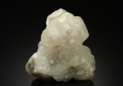 Calcite with Quartz on Fluorite