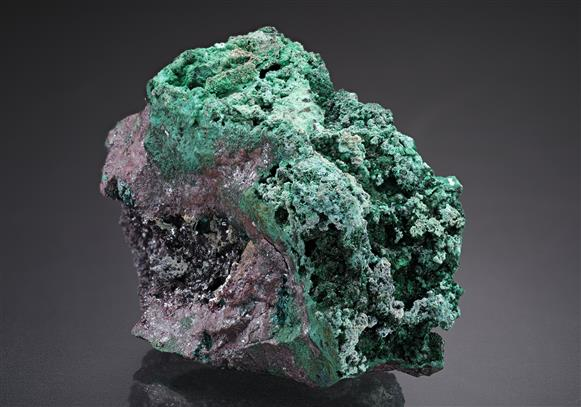 Gerhardite with Buttgenbachite on Cuprite