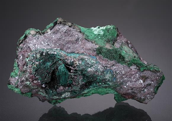 Gerhardtite with Buttgenbachite on Cuprite