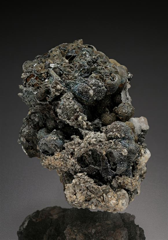 Pyragyrite with Native Arsenic and Argentopyrite