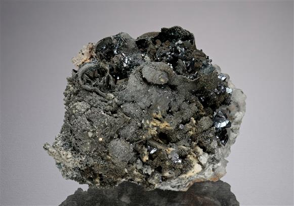 Pyrargyrite with Native Arsenic and Argentopyrite
